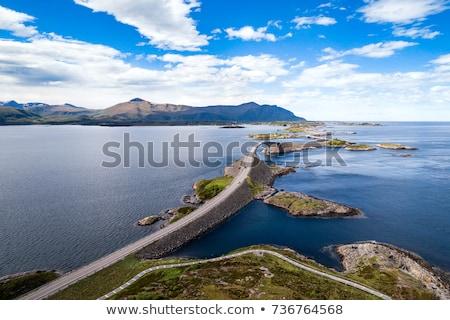 Atlantic Ocean Road aerial photography. Stock photo © cookelma