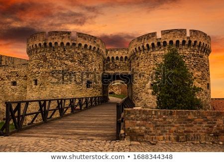 pormenor · forte · paredes · famoso · ponto · de · referência · Belgrado - foto stock © simply