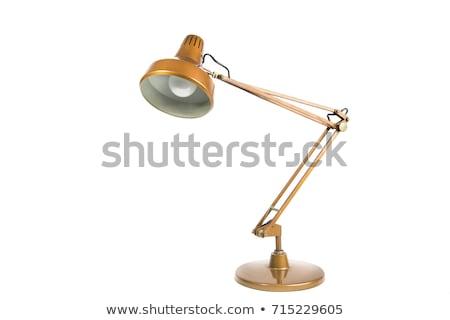 klasszikus · réz · asztal · lámpa · 3D · renderelt · kép - stock fotó © albund