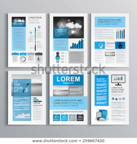 vector infographic report template with globe stock photo © orson