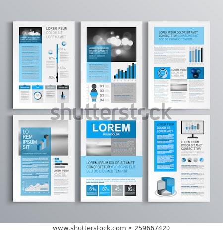 Vetor relatório modelo globo linhas Foto stock © orson