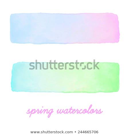 Aquarel helling banners ingesteld abstract Stockfoto © pakete