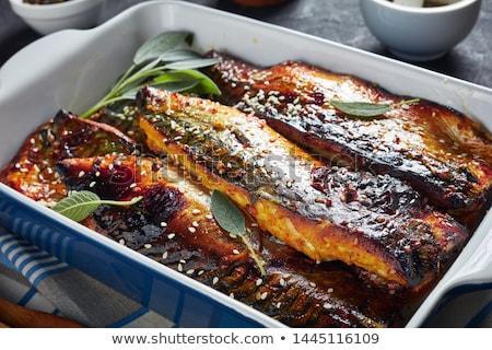Baked mackerel Stock photo © Digifoodstock