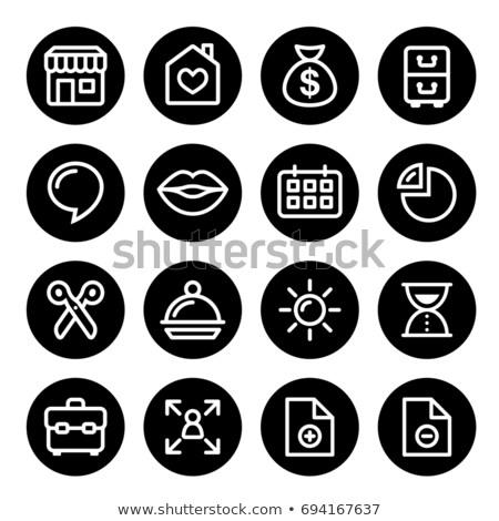 weboldal · menü · navigáció · vonal · ikon · szett · vektor - stock fotó © redkoala
