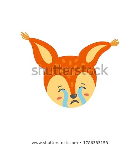 Triste arancione sentimento come piangere isolato Foto d'archivio © RAStudio