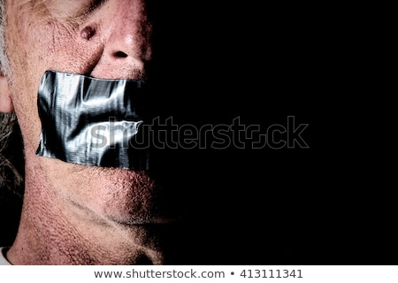 man with duck tape on face Stock photo © ssuaphoto
