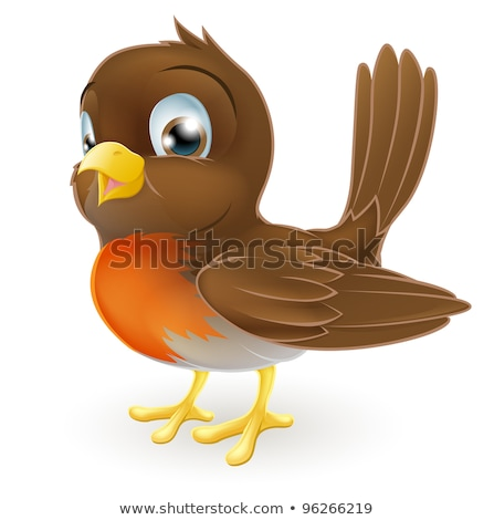 robin bird cartoon character stock photo © krisdog