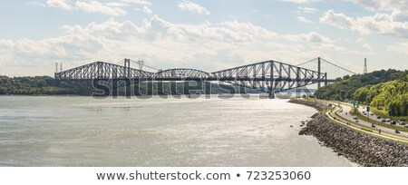 Quebec Bridge - longest cantilever bridge in the world. stock photo © chrisukphoto