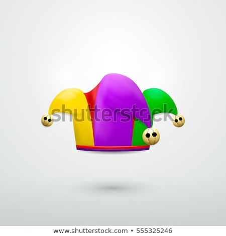 April fools day clown cap with golden bells Stock photo © orensila