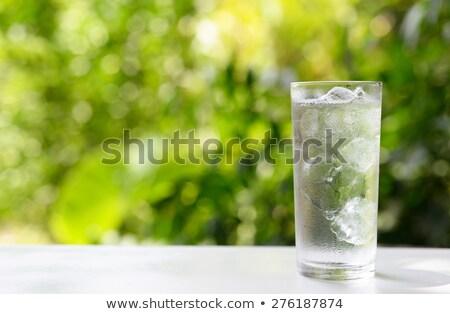 Friss hideg vizes flakon üveg édesvíz fehér Stock fotó © Digifoodstock