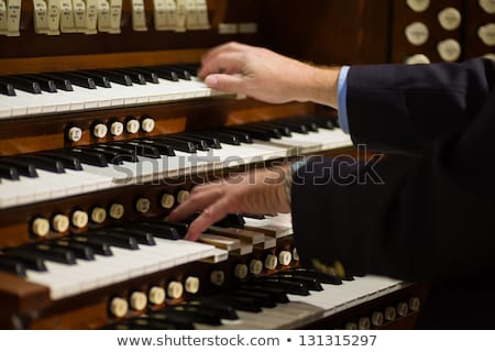 Beautiful church organ. Stock photo © lithian