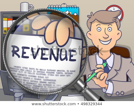 Revenue through Magnifying Glass. Doodle Concept. Stock photo © tashatuvango