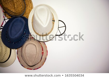 Close-up of hat hanging on hook Stock photo © wavebreak_media