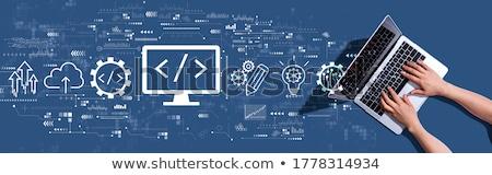 html coding concept on laptop screen stock photo © tashatuvango