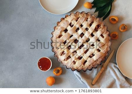 アプリコット ジャム フォーク 白 食品 ストックフォト © Digifoodstock