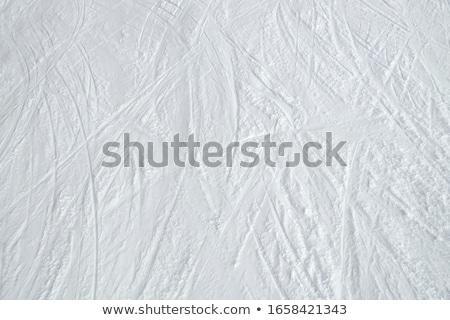 Kayak kar taze parlak mavi gökyüzü spor Stok fotoğraf © aletermi