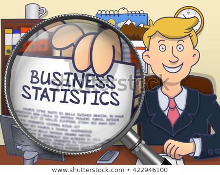 бизнеса статистика объектив болван стиль бумаги Сток-фото © tashatuvango
