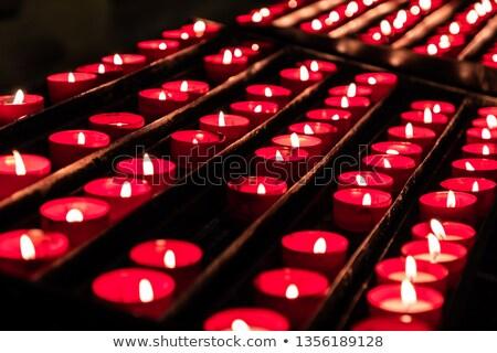 Vermelho velas fogo luz escuro chama Foto stock © stefanoventuri
