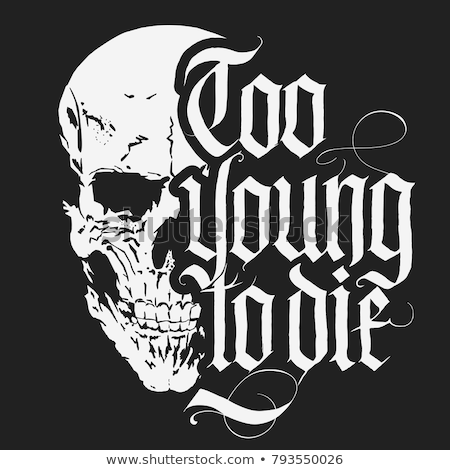 Skull t-shirt with Gothic lettering, Hand drawn Detailed sketchy t-shirt design. Vector Stock photo © Andrei_