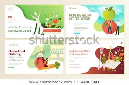 şablon sağlık gıda örnek arka plan sanat Stok fotoğraf © bluering