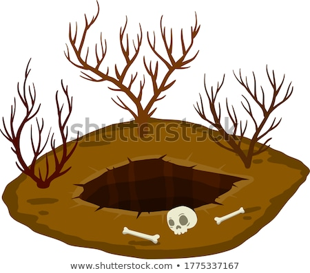 Cracked dry soil vector cartoon illustration. Stock photo © RAStudio