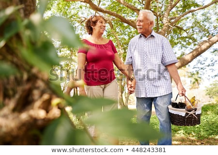 çift · yürüyüş · plaj · piknik · sepeti · kadın · sevmek - stok fotoğraf © wavebreak_media