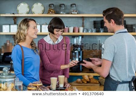 Müşteri ödeme karşı kadın teknoloji Stok fotoğraf © wavebreak_media