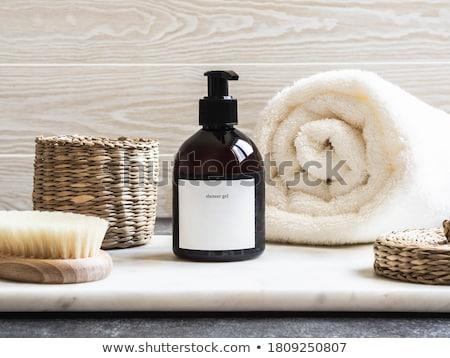 roxo · banheiro · luxo · flores · vaso - foto stock © marilyna