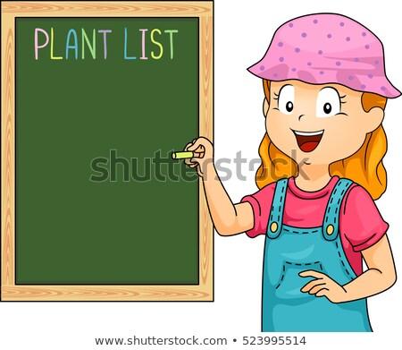植木屋 · 少女 · ベクトル · 植物 · コレクション · ポット - ストックフォト © lenm
