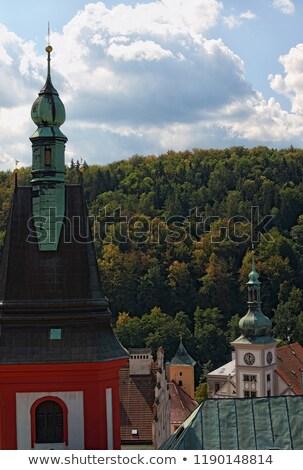 Church of Saint Wenceslas in Loket Stock photo © benkrut