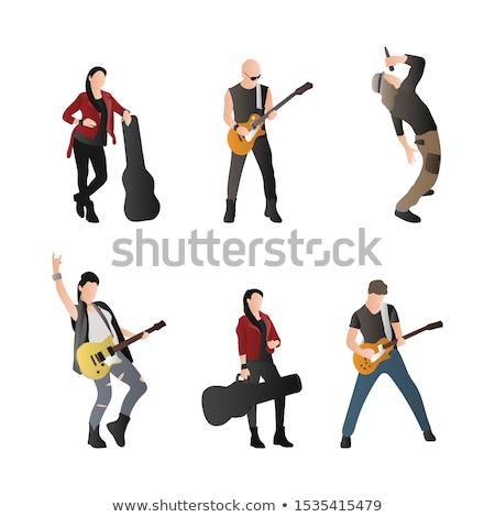 genç · gitarist · tam · uzunlukta · görüntü - stok fotoğraf © feedough