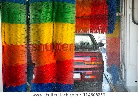 Ecset lomtár jármű szappan mos mosás Stock fotó © Kzenon