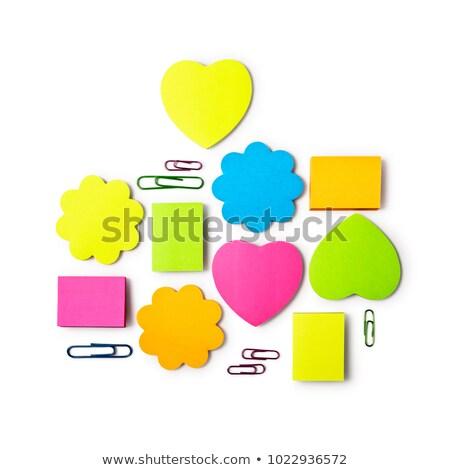 Portapapeles blanco papel forma de corazón negro Foto stock © CsDeli