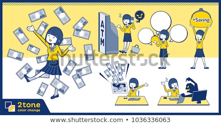 2tone type school girl Blazer_set 12 Stock photo © toyotoyo
