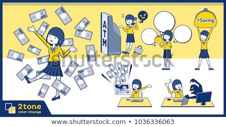 Tip 12 kız okul kadın Stok fotoğraf © toyotoyo