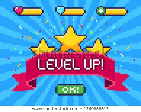 Pixel Explosion Banner, Color Vector Illustration Stock photo © robuart