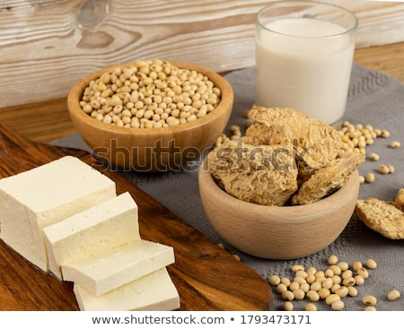 tofu · primer · plano · ilustración · frescos · cubo · aislado - foto stock © lenm