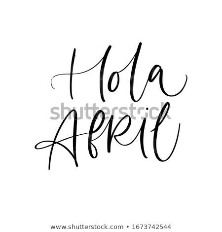 Hello summer spanish vacation typography  Stock photo © cienpies