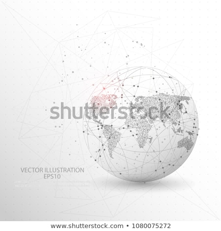 Earth globe on white background, America, vector stock photo © olehsvetiukha