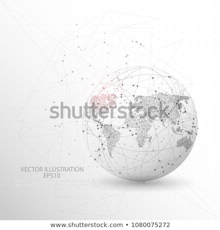 Earth globe on white background, America, vector Stock photo © olehsvetiukha