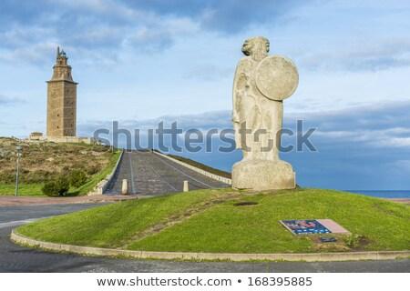 LA szobor torony Galícia Spanyolország épület Stock fotó © lunamarina