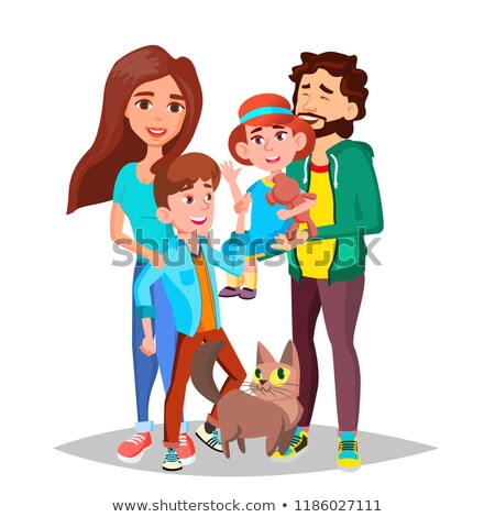 jóvenes · familia · ninos · picnic · barbacoa · hoguera - foto stock © pikepicture