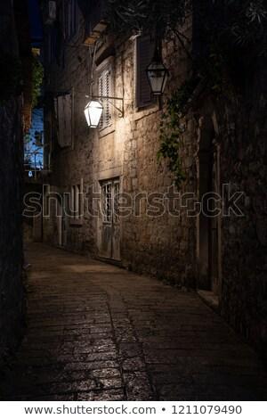 Streetlight and wall Stock photo © simazoran