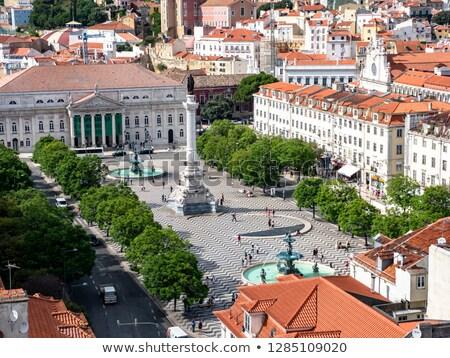 Rossio square overview. Lisbon, Portugal Stock photo © joyr