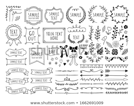 Ribbons Sketches Outline Set Vector Illustration Stock photo © robuart