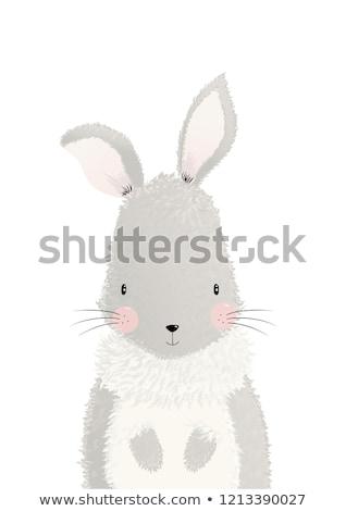 statuetka · malarstwo · dziewczyna · ilustracja · królik · młodych - zdjęcia stock © smeagorl
