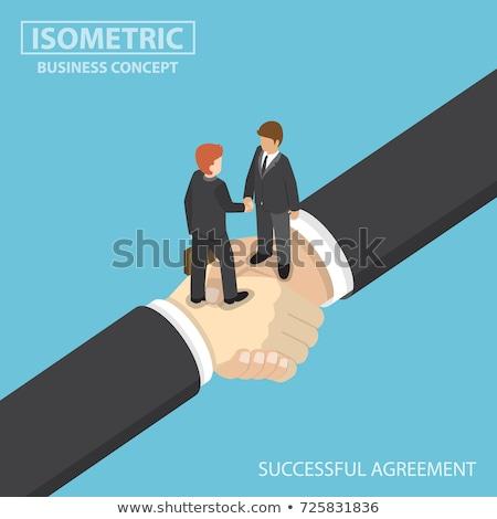 Vector acuerdo apretón de manos contrato firma Foto stock © TarikVision