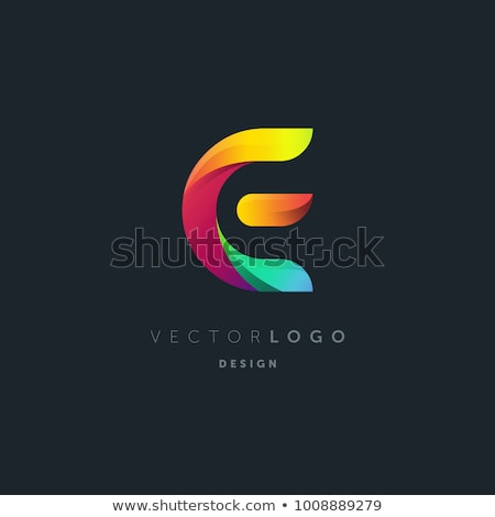 purple letter e logo vector sign design Stock photo © blaskorizov