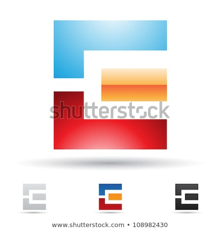 Red and Orange Geometrical Glossy Letter E Vector Illustration Stock photo © cidepix
