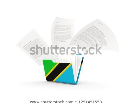 Dobrador bandeira Tanzânia arquivos isolado branco Foto stock © MikhailMishchenko